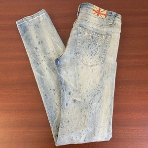 Machine Jeans Distressed/Destroyed Low-Rise Skinny